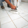 spreading the grout