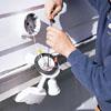 Installing a floodlight above a garage