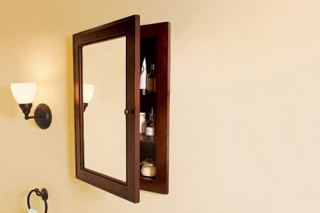 how to replace medicine cabinet mirror 1