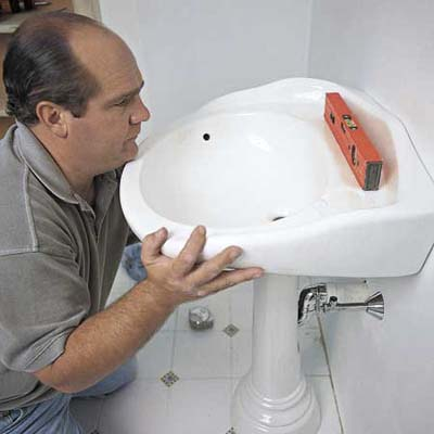 Install A Pop Up Drain How To Install A Pedestal Sink