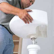 installing a pedestal sink
