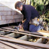 Tom Silva building an on-grade deck