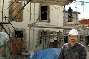 Norm outside the 2004 Bermuda house project