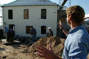 Kevin outside the 2004 Bermuda house project