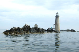 a lighthouse in Boston is being converted into a summer home near the Charlestown 2014 house project