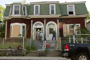 the Roxbury house project before renovation begins