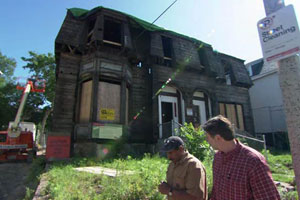 renovation begins on the Roxbury house project