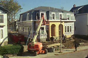 exterior renovation on the Roxbury house project