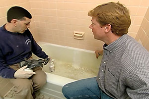Kevin O'Connor explains how to refinish a cast-iron tub