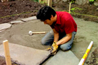 lay a bluestone patio