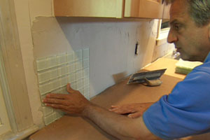 Joe Ferrante shows how to install a mosaic-tile backsplash