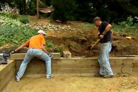build 4x4 wood retaining wall