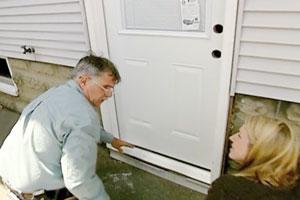 Tom Silva makes quick work of replacing an old door