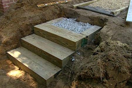 how to build wooden garden steps 2