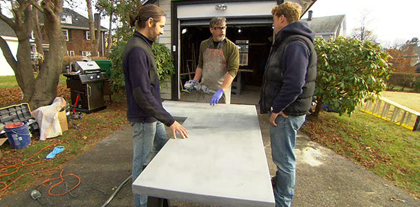 Kevin O'Connor learns how to create concrete kitchen counters