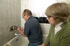 Richard Trethewey replaces a three-handle shower valve with a single-handle anti-scald valve