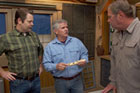 Nick Offerman visits the guys and brings along a wood handle with brass knobs