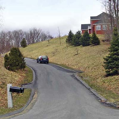 long ribbon of blacktop road