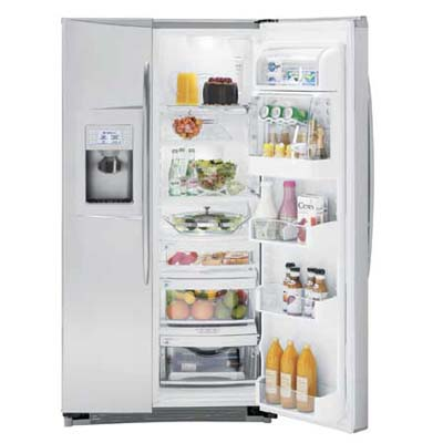 GE Profile Side-by-Side Refrigerator with ClimateKeeper2 technology to keep foods fresh longer