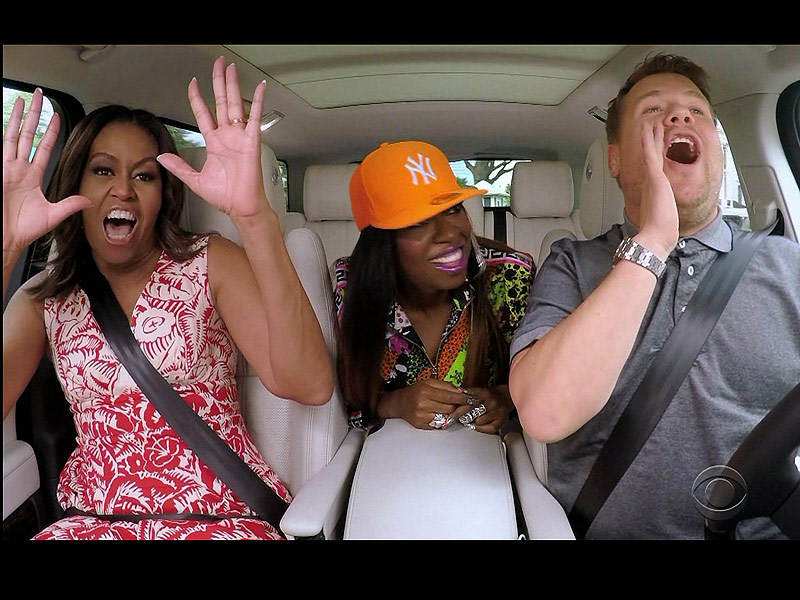Michele Obama Raps with James Corden and Missy Elliott