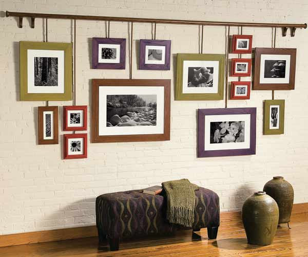 modern picture hanging ideas - Hanging Gallery 10 Fun Furniture Makeovers